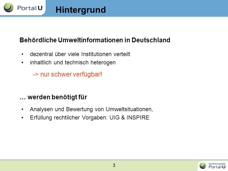 Hintergrund Behördliche Umweltinformationen in Deutschland