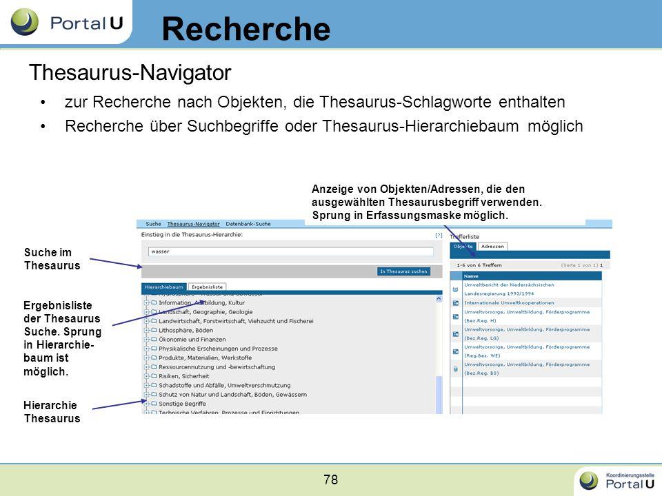 Recherche Thesaurus-Navigator