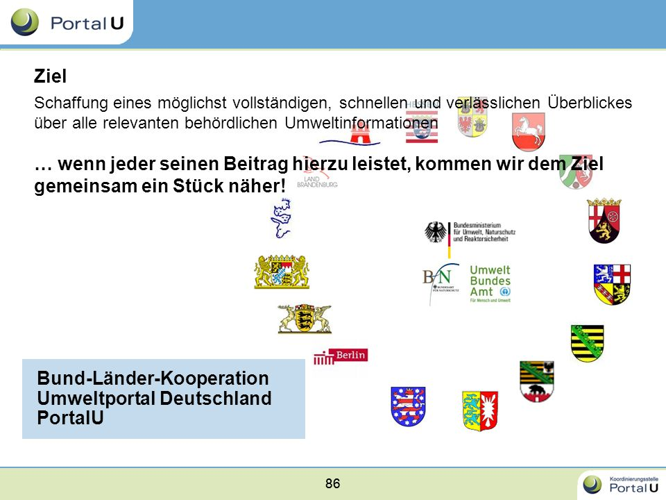 Bund-Länder-Kooperation Umweltportal Deutschland PortalU