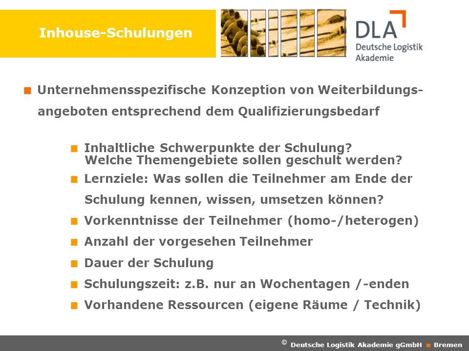 Inhouse-Schulungen Unternehmensspezifische Konzeption von Weiterbildungs- angeboten entsprechend dem Qualifizierungsbedarf.