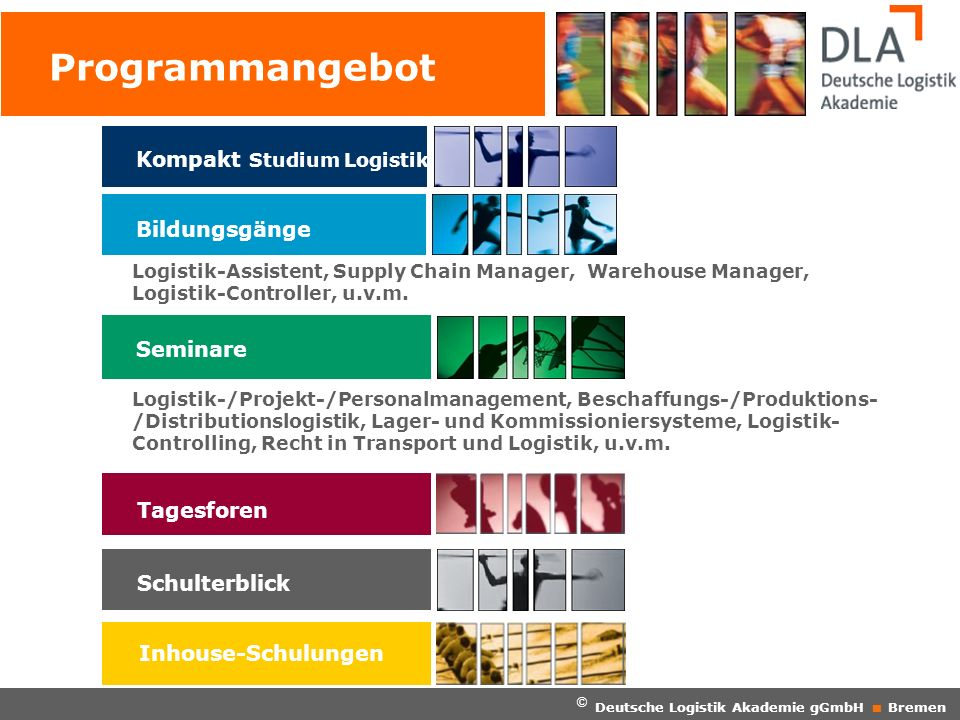 Programmangebot Kompakt Studium Logistik Bildungsgänge Seminare