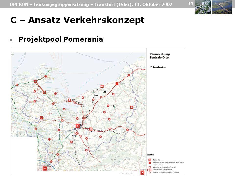 C – Ansatz Verkehrskonzept