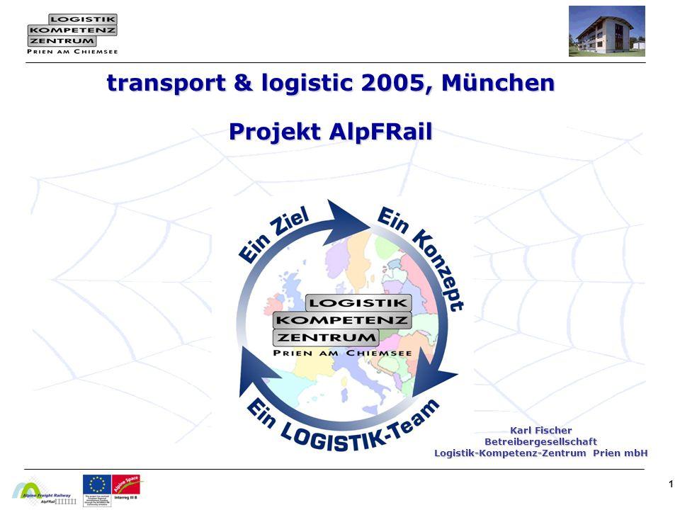 transport & logistic 2005, München Projekt AlpFRail
