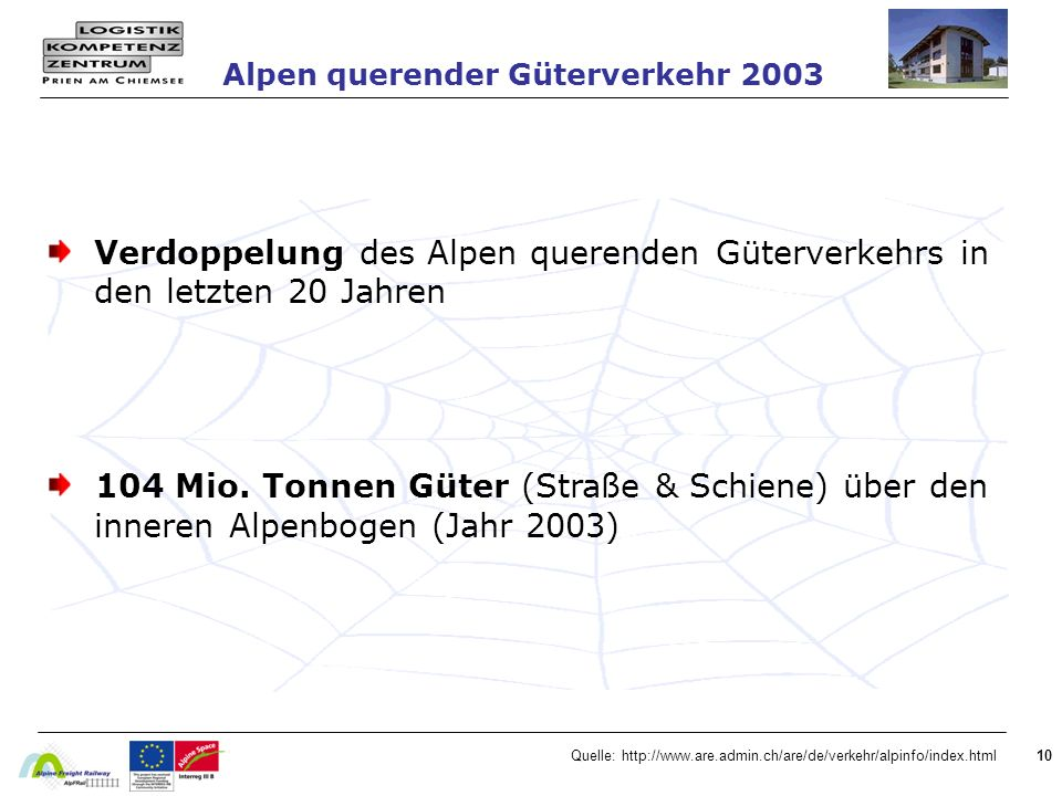 Alpen querender Güterverkehr 2003
