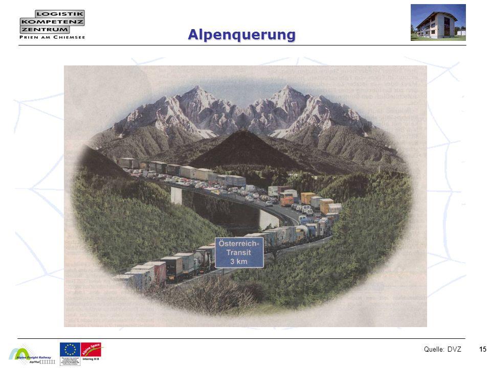 Alpenquerung Quelle: DVZ