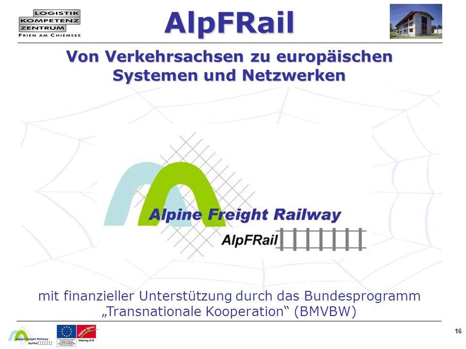 AlpFRail Von Verkehrsachsen zu europäischen Systemen und Netzwerken