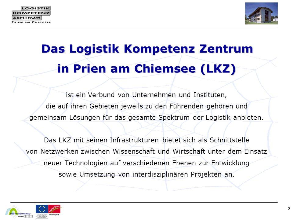 Das Logistik Kompetenz Zentrum in Prien am Chiemsee (LKZ) ist ein Verbund von Unternehmen und Instituten, die auf ihren Gebieten jeweils zu den Führenden gehören und gemeinsam Lösungen für das gesamte Spektrum der Logistik anbieten.