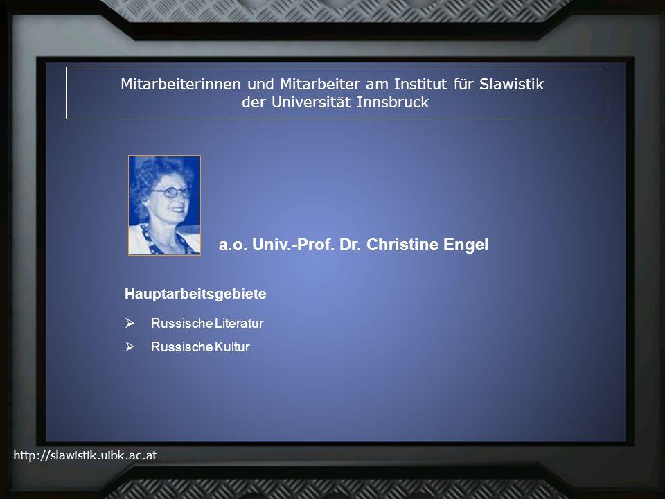 a.o. Univ.-Prof. Dr. Christine Engel