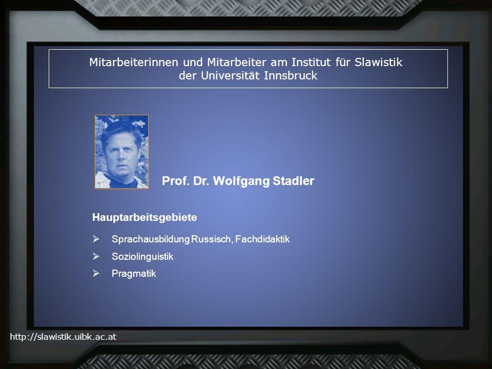 Prof. Dr. Wolfgang Stadler
