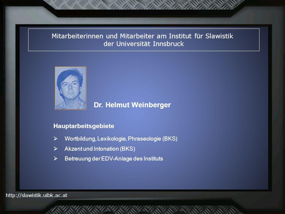 Mitarbeiterinnen und Mitarbeiter am Institut für Slawistik der Universität Innsbruck