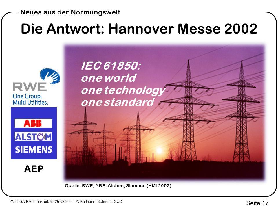 Die Antwort: Hannover Messe 2002