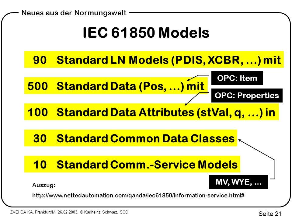 IEC 61850 Models 90 Standard LN Models (PDIS, XCBR, ...) mit