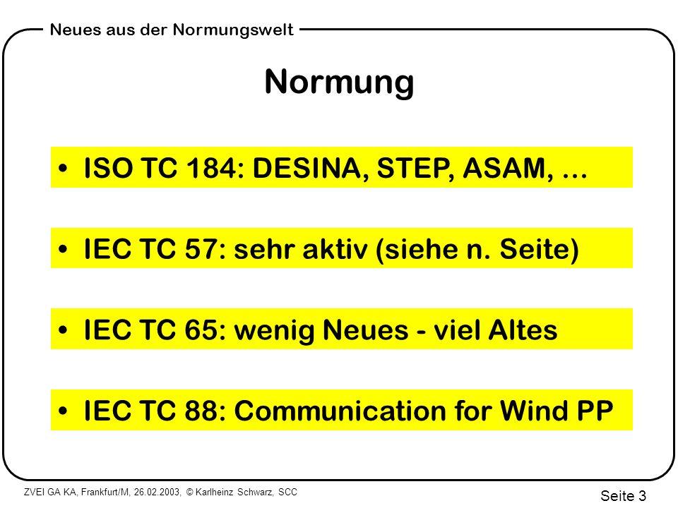 Normung ISO TC 184: DESINA, STEP, ASAM, ...