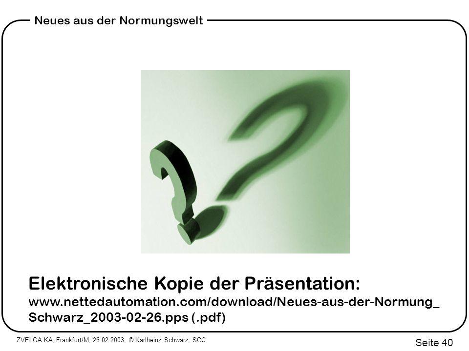 Elektronische Kopie der Präsentation: www. nettedautomation
