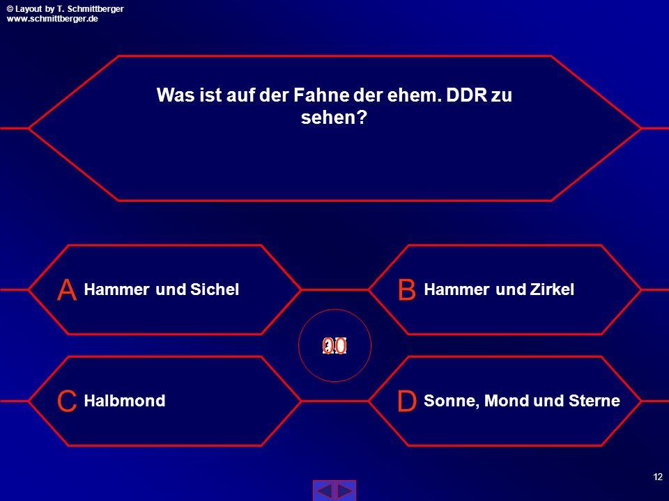 Was ist auf der Fahne der ehem. DDR zu sehen