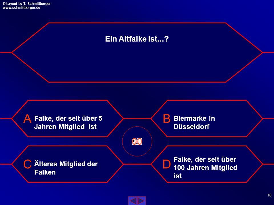 Ein Altfalke ist... Falke, der seit über 5 Jahren Mitglied ist. Biermarke in Düsseldorf. 09. 10.