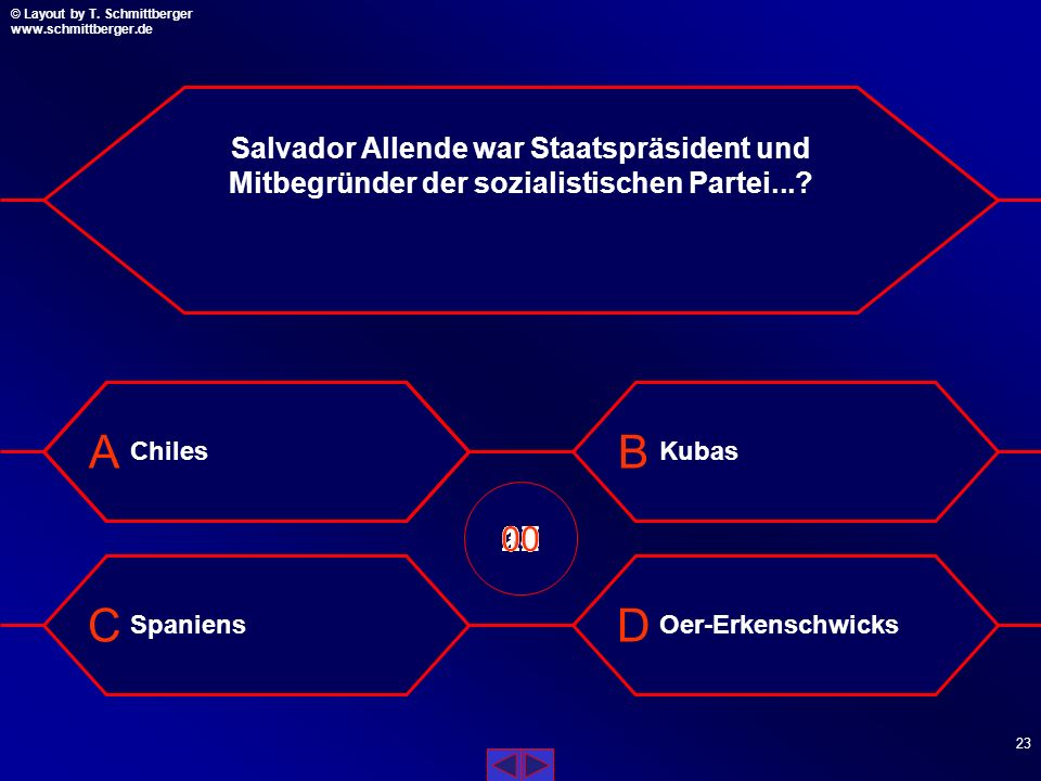 Salvador Allende war Staatspräsident und Mitbegründer der sozialistischen Partei...