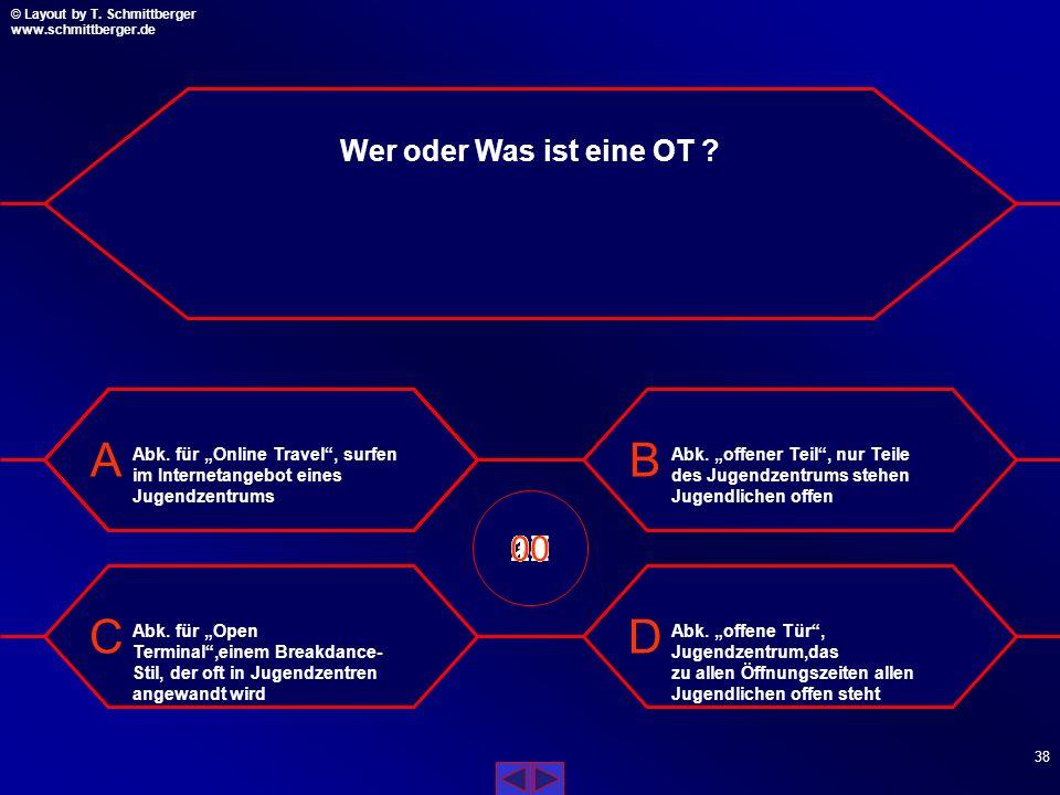 """Wer oder Was ist eine OT Abk. für """"Online Travel , surfen im Internetangebot eines Jugendzentrums."""