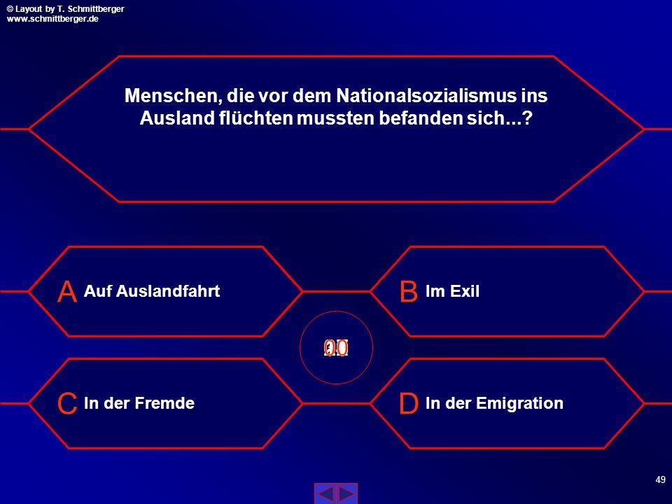 Menschen, die vor dem Nationalsozialismus ins Ausland flüchten mussten befanden sich...