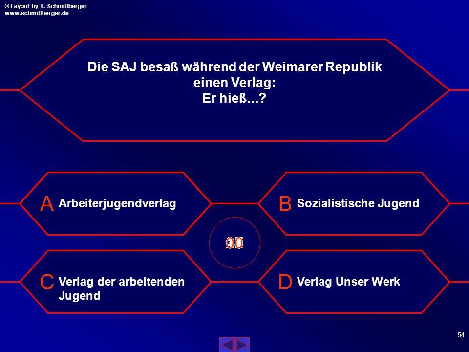 Die SAJ besaß während der Weimarer Republik einen Verlag: Er hieß...
