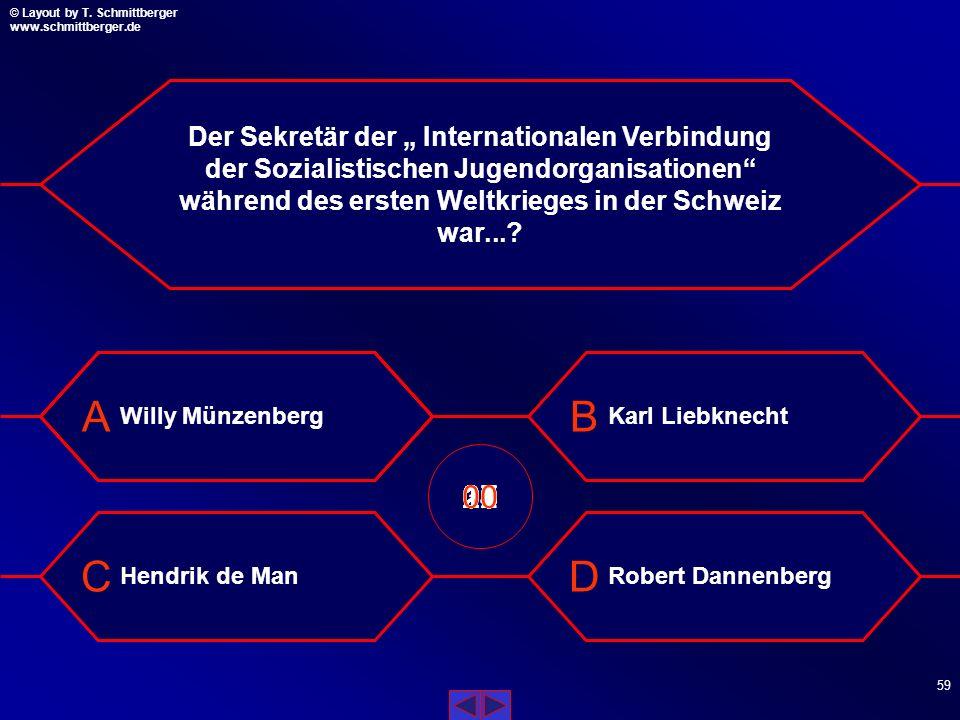 """Der Sekretär der """" Internationalen Verbindung der Sozialistischen Jugendorganisationen während des ersten Weltkrieges in der Schweiz war..."""