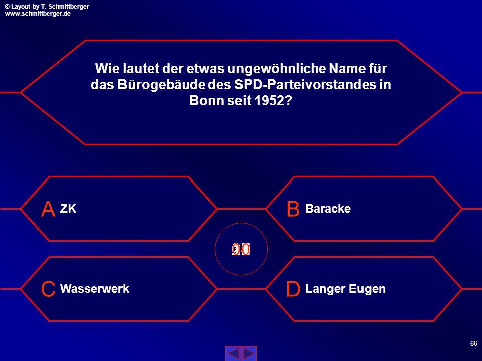Wie lautet der etwas ungewöhnliche Name für das Bürogebäude des SPD-Parteivorstandes in Bonn seit 1952