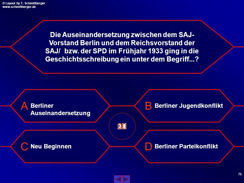 Die Auseinandersetzung zwischen dem SAJ-Vorstand Berlin und dem Reichsvorstand der SAJ/ bzw. der SPD im Frühjahr 1933 ging in die Geschichtsschreibung ein unter dem Begriff...