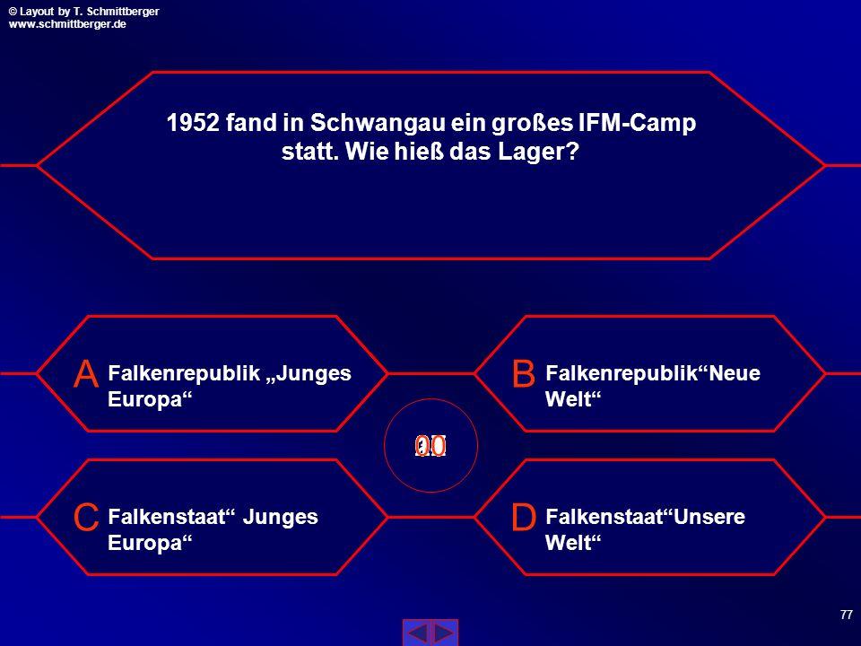 1952 fand in Schwangau ein großes IFM-Camp statt. Wie hieß das Lager