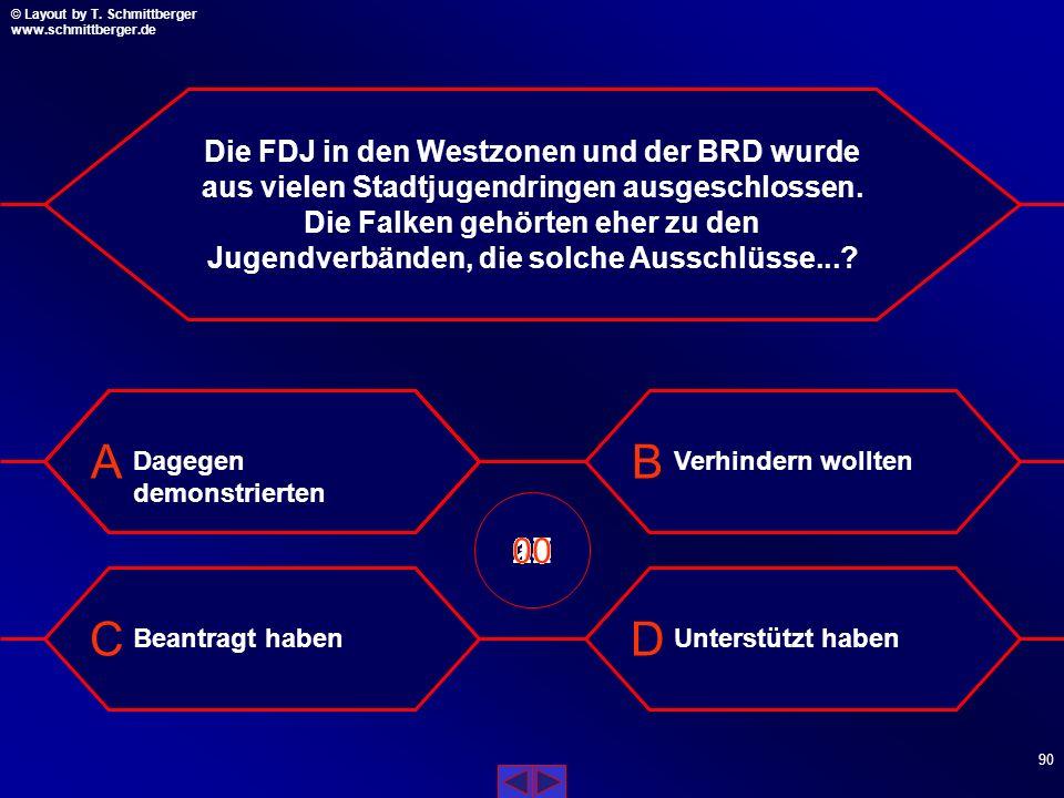 Die FDJ in den Westzonen und der BRD wurde aus vielen Stadtjugendringen ausgeschlossen. Die Falken gehörten eher zu den Jugendverbänden, die solche Ausschlüsse...