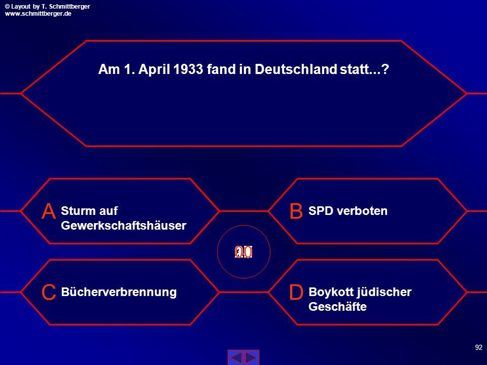 Am 1. April 1933 fand in Deutschland statt...