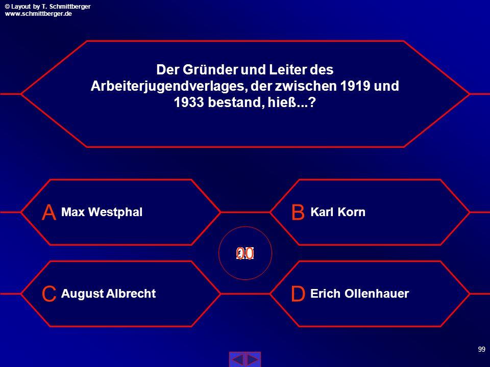 Der Gründer und Leiter des Arbeiterjugendverlages, der zwischen 1919 und 1933 bestand, hieß...