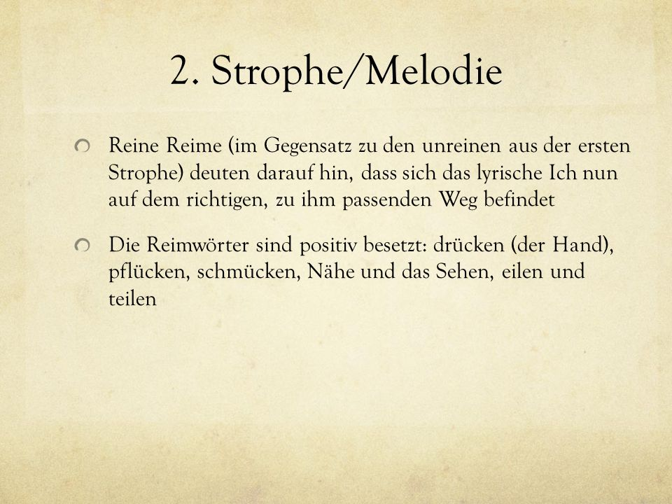 2. Strophe/Melodie