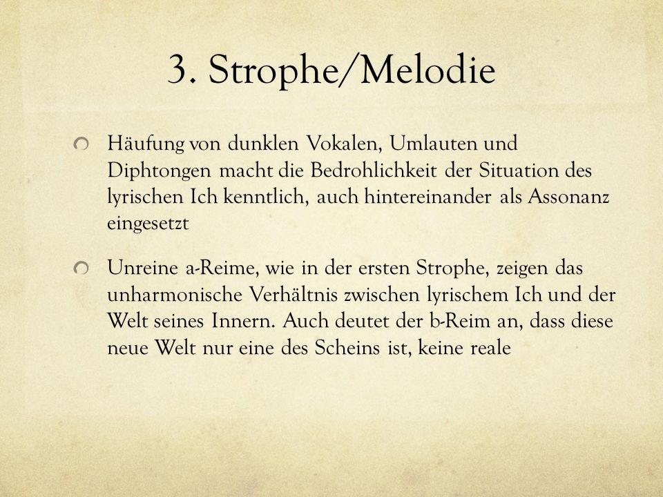 3. Strophe/Melodie