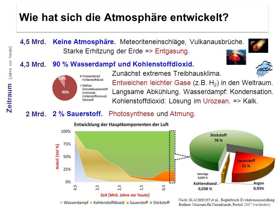 Wie hat sich die Atmosphäre entwickelt