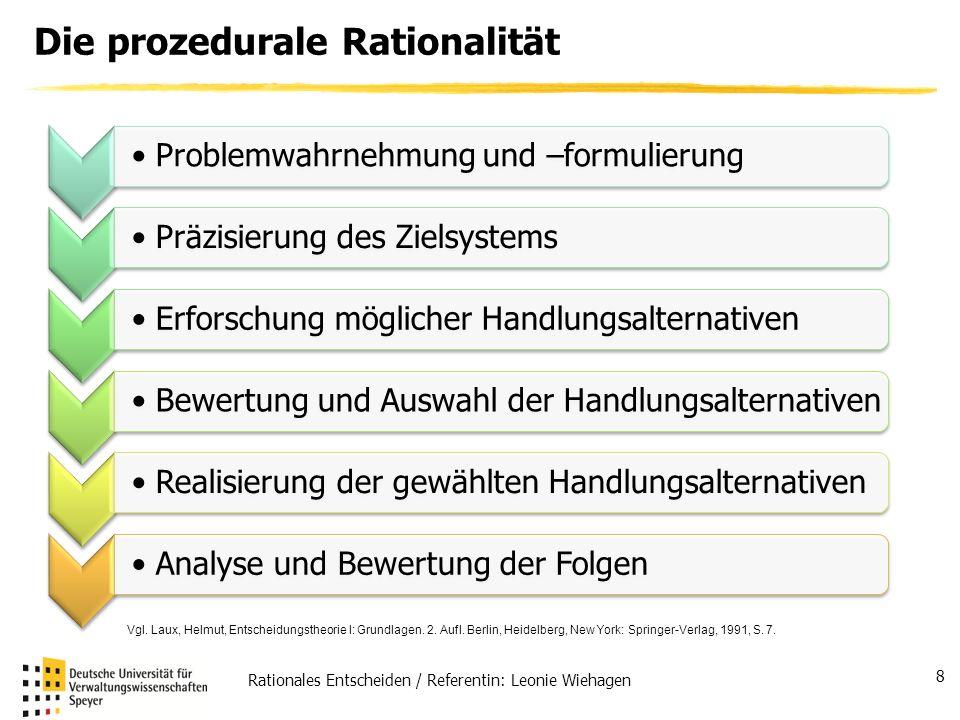 Die prozedurale Rationalität