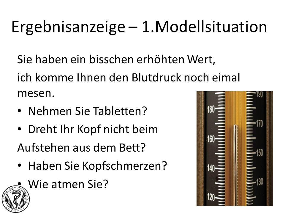 Ergebnisanzeige – 1.Modellsituation