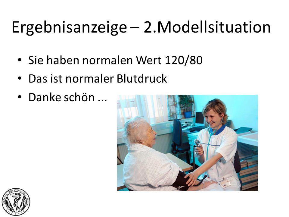 Ergebnisanzeige – 2.Modellsituation