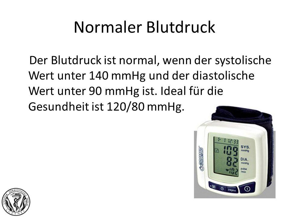 Normaler Blutdruck