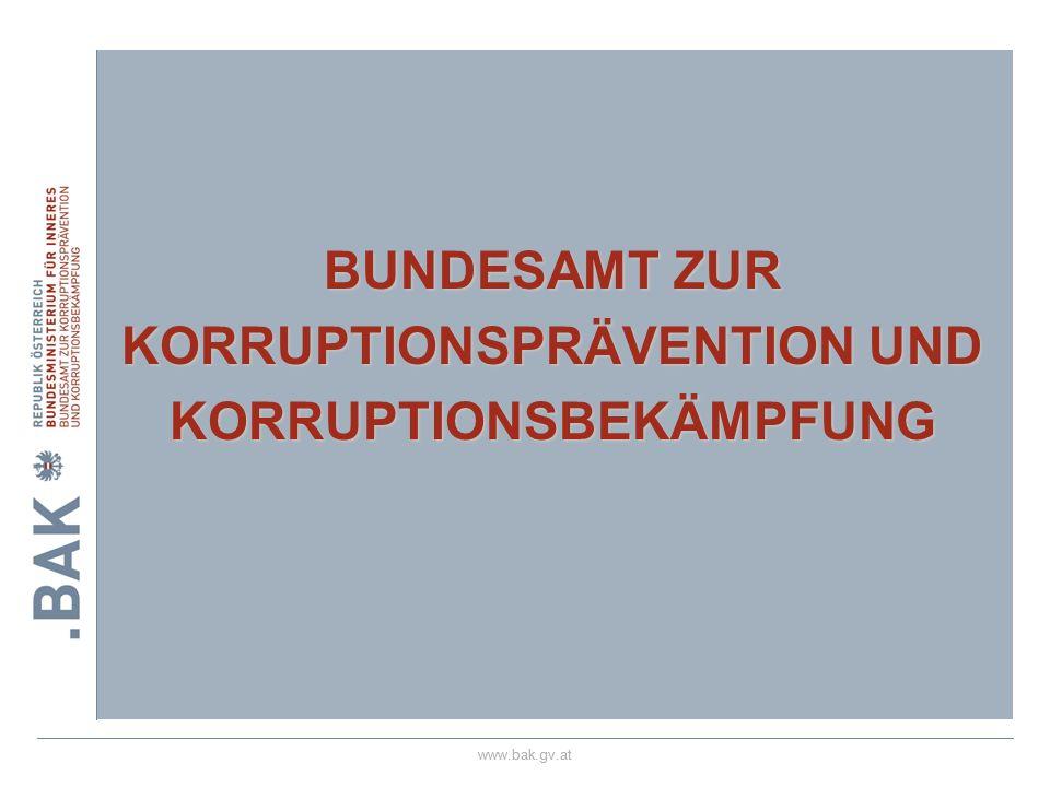 BUNDESAMT ZUR KORRUPTIONSPRÄVENTION UND KORRUPTIONSBEKÄMPFUNG