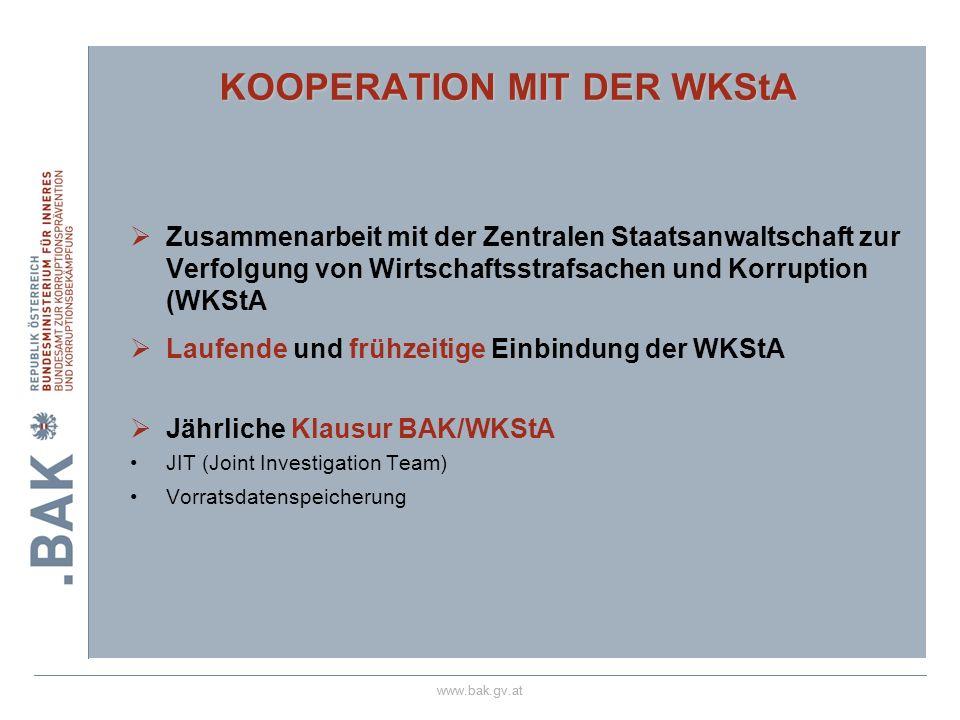 KOOPERATION MIT DER WKStA