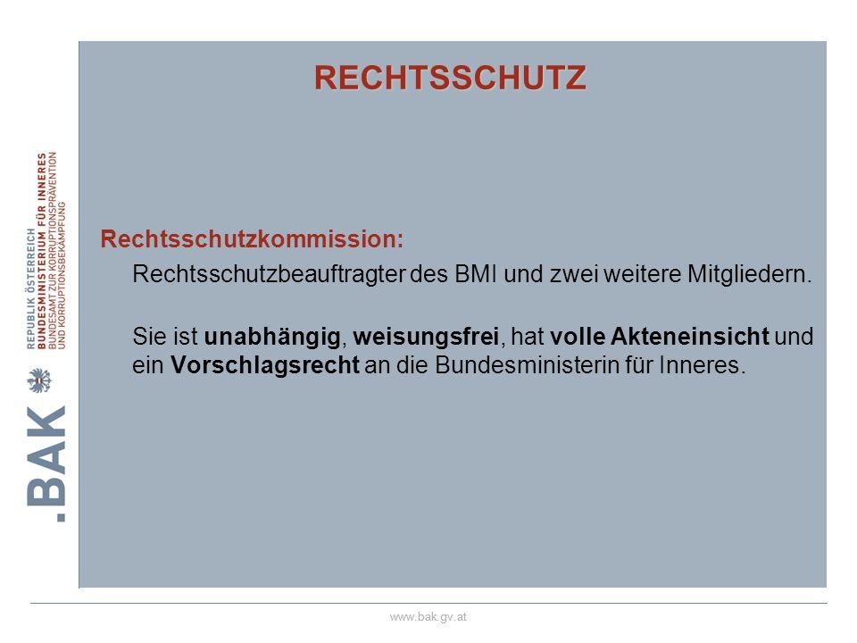 RECHTSSCHUTZ Rechtsschutzkommission: