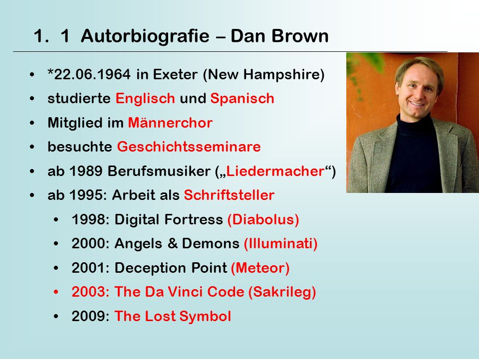 1 Autorbiografie – Dan Brown