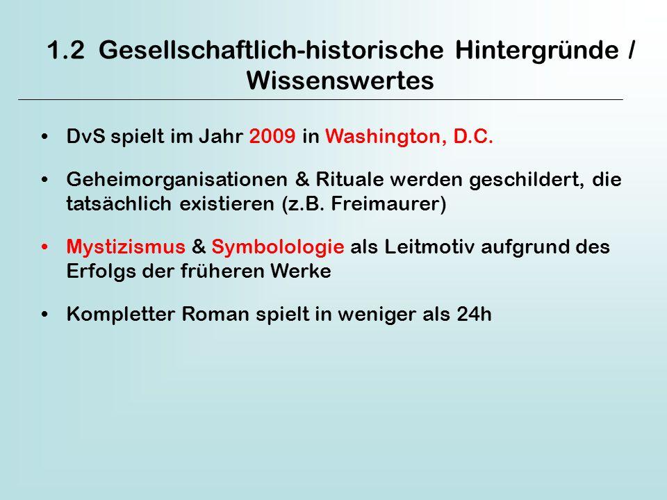 1.2 Gesellschaftlich-historische Hintergründe / Wissenswertes