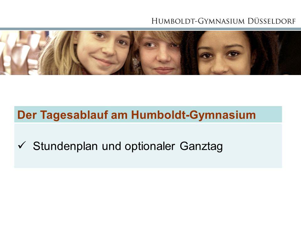 Der Tagesablauf am Humboldt-Gymnasium