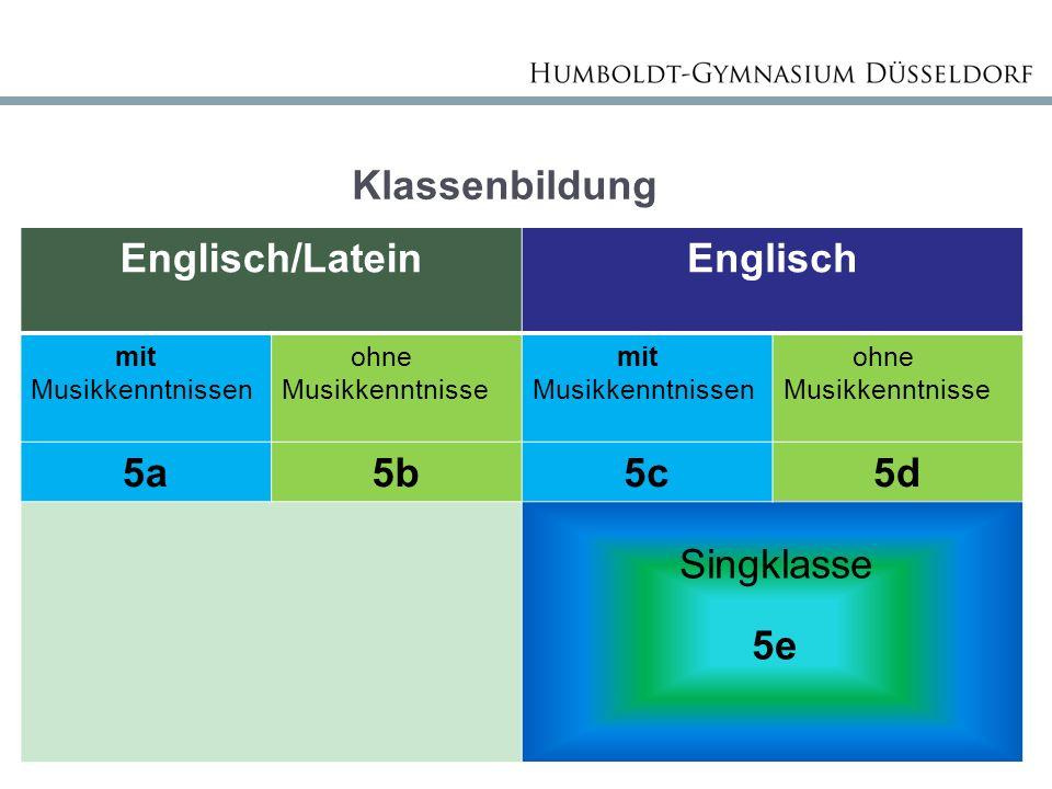 Englisch/Latein Englisch 5a 5b 5c 5d