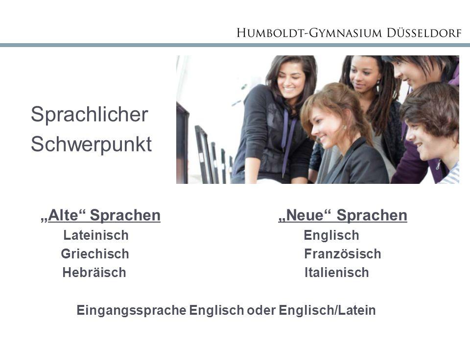 """Sprachlicher Schwerpunkt """"Alte Sprachen """"Neue Sprachen"""