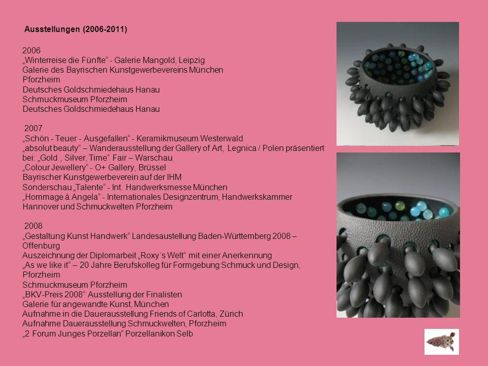 """Ausstellungen (2006-2011) 2006. """"Winterreise die Fünfte - Galerie Mangold, Leipzig. Galerie des Bayrischen Kunstgewerbevereins München."""