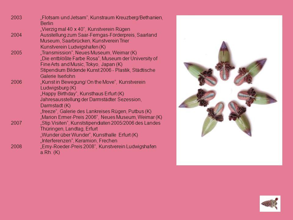 "2003 ""Flotsam und Jetsam , Kunstraum Kreuzberg/Bethanien, Berlin"