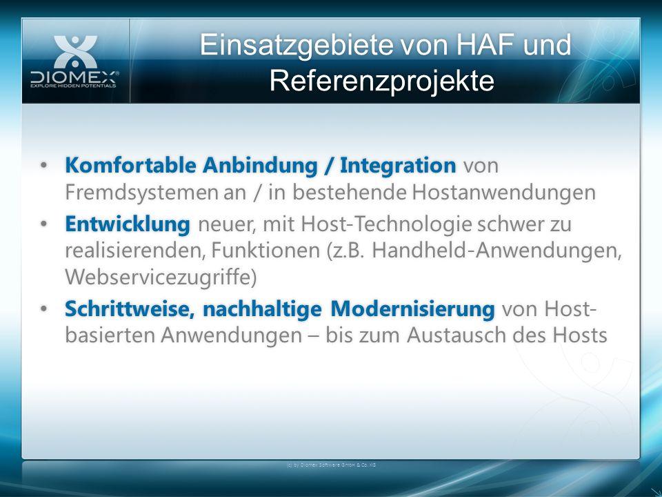 Einsatzgebiete von HAF und Referenzprojekte