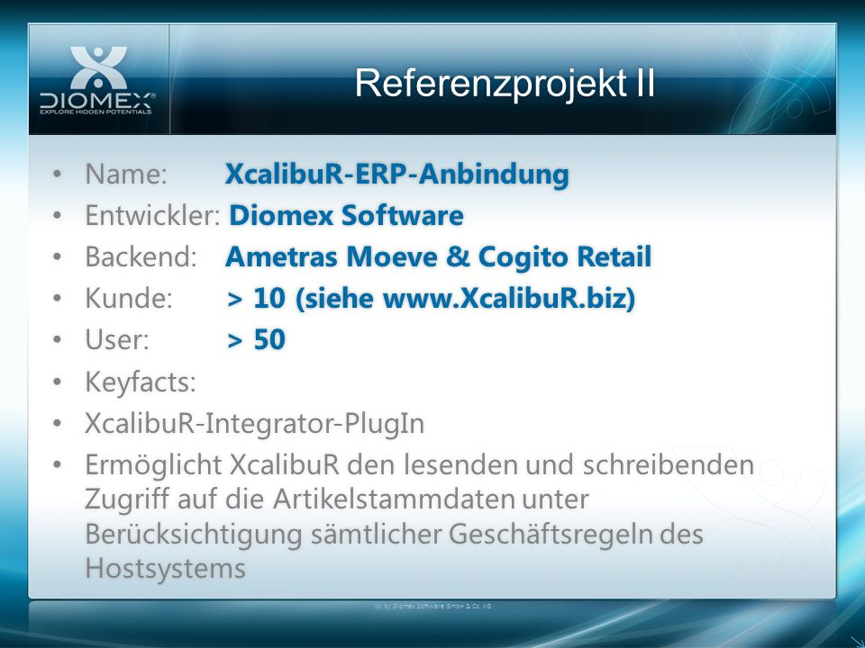 (c) by Diomex Software GmbH & Co. KG